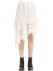 Philosophy Di Lorenzo Serafini Asymmetrical Viscose Satin And Lace Skirt