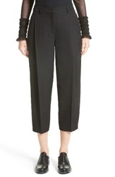 Akris Punto Women's Flori Wool Gabardine Pleated Crop Pants