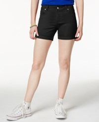 Celebrity Pink Juniors' 5' Cuffed Colored Shorts Black