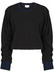 3.1 Phillip Lim Cropped Sweatshirt Black
