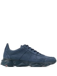 Lloyd Perforated Lace Up Sneakers Blue