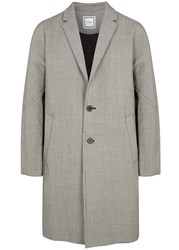 Wooyoungmi Houndstooth Mohair And Wool Blend Coat Black And White