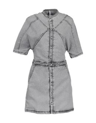 Ready To Fish Short Dresses Light Grey