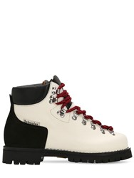 Proenza Schouler 30Mm Two Tone Leather Hiking Boots Off White Black