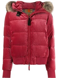 Parajumpers Faux Fur Trimmed Jacket Pink
