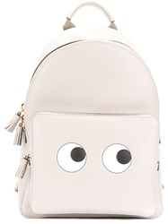 Anya Hindmarch Eyes Backpack Women Suede Bos Taurus One Size Grey