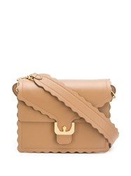 Coccinelle Small Box Shoulder Bag Brown