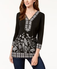 Jm Collection Printed Studded Tunic Arabelle Deco