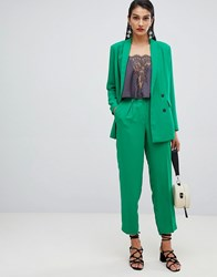 Selected Femme Double Breasted Cigarette Trouser Jolly Green