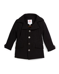 Appaman Empire Button Front Ponte Coat Black Size 4T 14
