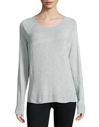 Lord And Taylor Knit Crewneck Sweater Shadow Heather