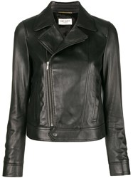 Saint Laurent Fitted Biker Jacket Black