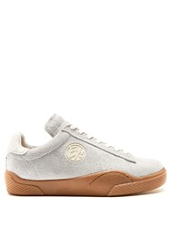 Eytys Wave Rough Low Top Suede Trainers White Multi