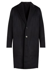 Acne Studios Charles Wool And Cashmere Blend Coat Navy
