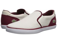 Lacoste Jouer Slip On 218 1 White Dark Red Shoes