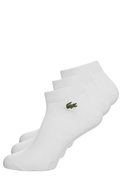 Lacoste 3 Pack Sports Socks Blanc White