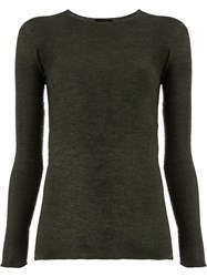 Avant Toi Fine Knit Sweater Green