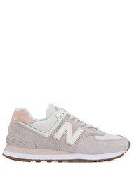 New Balance 574 Suede And Mesh Sneakers Lilla