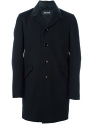 Just Cavalli Single Breasted Coat Black