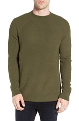 The Rail Men's Ribbed Military Crewneck Sweater Olive Ivy