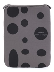 Comme Des Garcons Wallet Polka Dot Zip Pouch Grey