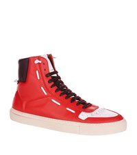 Givenchy Whipstitch High Top Trainers Male Red