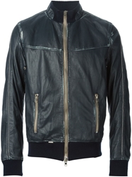Sword Leather Bomber Jacket