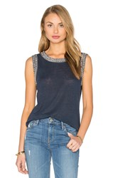 Generation Love Lucy Crystal Tank Navy