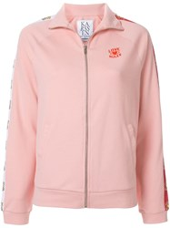 Zoe Karssen Love Rules Zipped Up Jacket Pink