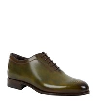 Stemar Hand Painted Oxford Shoe Male Green