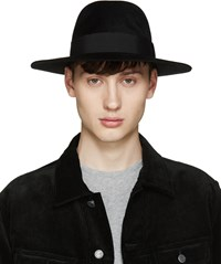 Larose Black Rabbit Fur Fedora