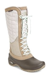 The North Face Women's 'Thermoball Tm ' Waterproof Utility Boot Split Rock Brown Subtle Green