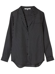 Gerard Darel Pinstriped Silk Shirt Black