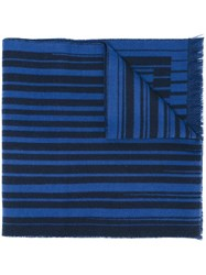 Furla Striped Scarf Blue