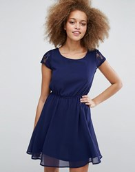 Pussycat London Lace Skater Dress Navy