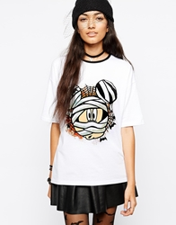 Asos T Shirt With Mickey Mouse Print White