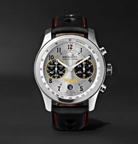 Bremont Norton V4 Automatic Chronometer 43Mm Stainless Steel And Leather Watch Black