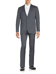 Saks Fifth Avenue Line Textured Suit Grey