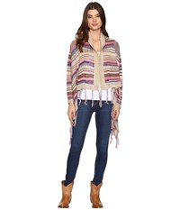 Rock And Roll Cowgirl Long Sleeve Cardigan 46 9598 Tan Women's Sweater