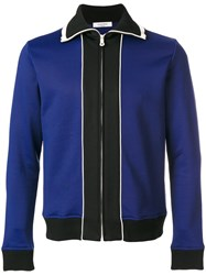Valentino Zip Placket Jacket Cotton Polyamide M Blue