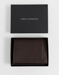 French Connection Premium Folded Cardholder Brown