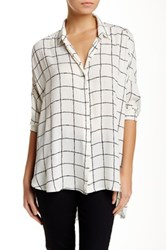 Lush Button Front Shirt Black