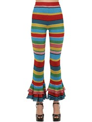Moschino Striped Lurex Knit Pants Multicolor