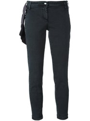 Jacob Cohen Cropped Trousers Black
