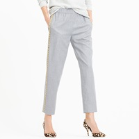 J.Crew Collection Italian Wool Pull On Pant In Beaded Tux Stripe