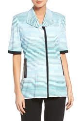 Ming Wang Women's Stripe Knit Jacket