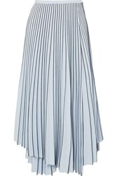 Proenza Schouler Asymmetric Pleated Cady Wrap Skirt Blue
