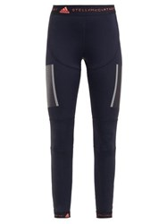 Adidas By Stella Mccartney Run Tight High Rise Performance Leggings Black Pink