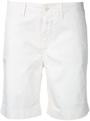 Closed Chino Shorts Women Cotton Spandex Elastane 28 White
