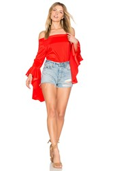 Central Park West L.A Off Shoulder Top Red